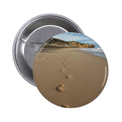 Walking the beach, Great Ocean Road Australia Pinback Buttons