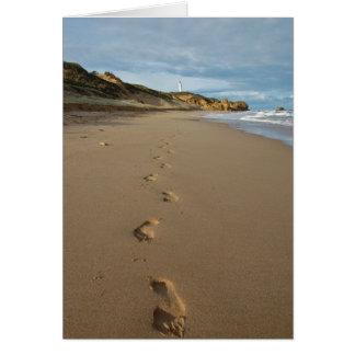 Walking the beach, Great Ocean Road Australia Greeting Card