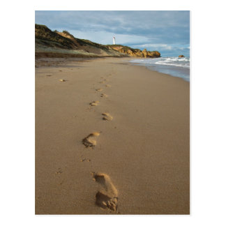 Walking the beach, Great Ocean Road Australia Postcard