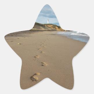 Walking the beach, Great Ocean Road Australia Star Sticker