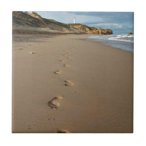 Walking the beach, Great Ocean Road Australia Ceramic Tile