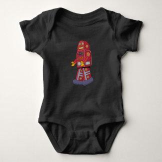 Walking Tin Robot Baby Bodysuit