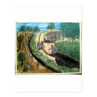 Walking To Aunt Effie's Postcard