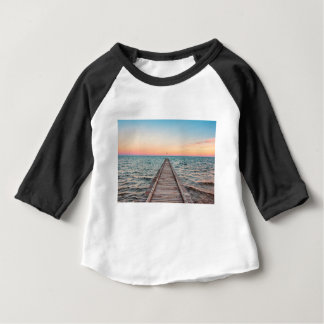 Walking towards the infinity of the sea baby T-Shirt