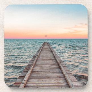 Walking towards the infinity of the sea coaster