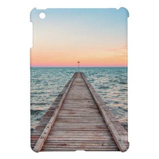 Walking towards the infinity of the sea iPad mini case