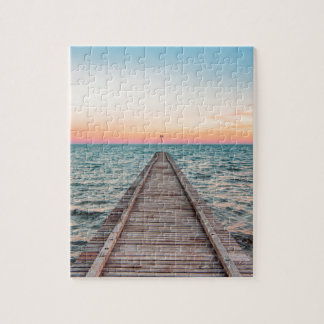 Walking towards the infinity of the sea jigsaw puzzle