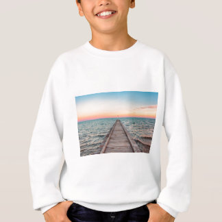 Walking towards the infinity of the sea sweatshirt