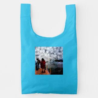 Walking towards the lake baggu reusable bag
