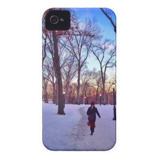 Walking Under A Winter Sunset Case-Mate iPhone 4 Cases