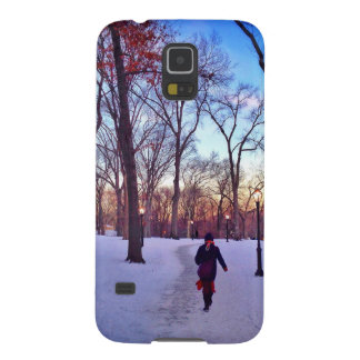 Walking Under A Winter Sunset Cases For Galaxy S5