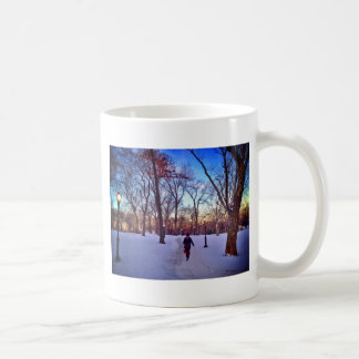 Walking Under A Winter Sunset Coffee Mug