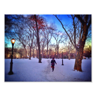 Walking Under A Winter Sunset Photo Print