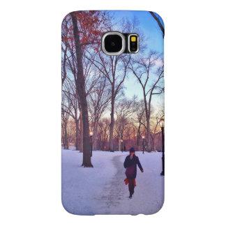 Walking Under A Winter Sunset Samsung Galaxy S6 Cases