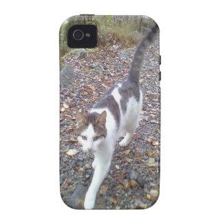 Walking White black cat iPhone 4/4S Case