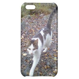 Walking White black cat iPhone 5C Covers