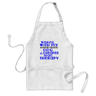 Walking With My Afghan Hound Dog Designs Standard Apron