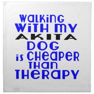 Walking With My AKITA Dog Designs Napkin