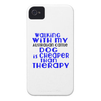 Walking With My Australian Cattle Dog Dog Designs Case-Mate iPhone 4 Case