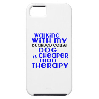Walking With My Bearded Collie Dog Designs iPhone 5 Case