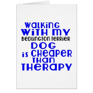 Walking With My Bedlington Terrier Dog Designs Card
