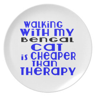 Walking With My Bengal Cat Designs Dinner Plate