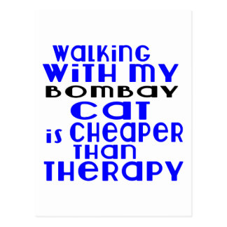 Walking With My Bombay Cat Designs Postcard
