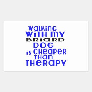 Walking With My Briard Dog Designs Rectangular Sticker