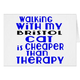 Walking With My Bristol Cat Designs Card