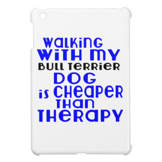 Walking With My Bull Terrier Dog Designs Case For The iPad Mini