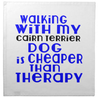 Walking With My Cairn Terrier Dog Designs Cloth Napkins