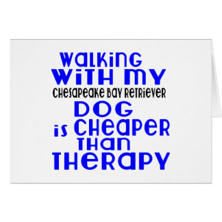 Walking With My Chesapeake Bay Retriever Dog Desig Card