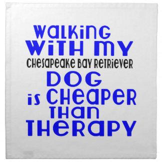 Walking With My Chesapeake Bay Retriever Dog Desig Napkin
