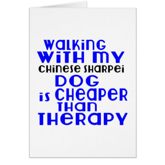 Walking With My Chinese Sharpei Dog Designs Card
