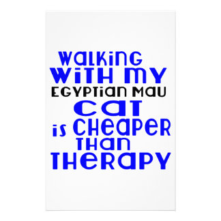 Walking With My Egyptian Mau Cat Designs Customized Stationery