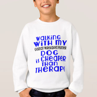 Walking With My German Wirehaired Pointer Dog  Des Sweatshirt