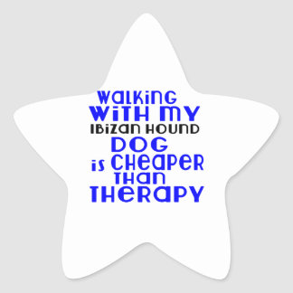 Walking With My Ibizan Hound Dog  Designs Star Sticker