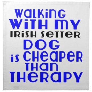 Walking With My Irish Setter Dog  Designs Napkin