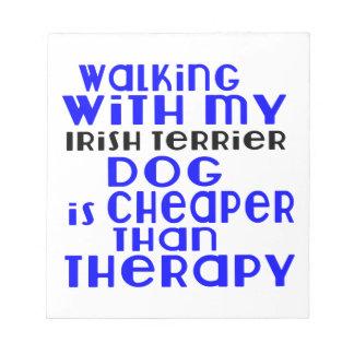Walking With My Irish Terrier Dog  Designs Notepad