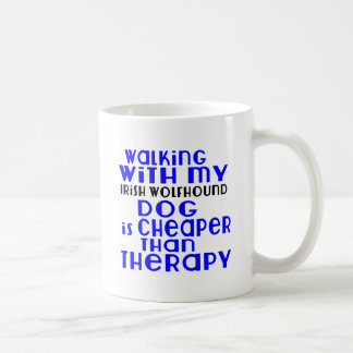 Walking With My Irish Wolfhound Dog  Designs Coffee Mug