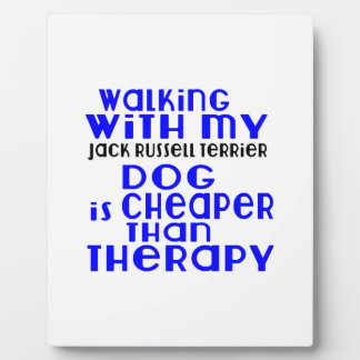 Walking With My Jack Russell Terrier Dog  Designs Photo Plaque