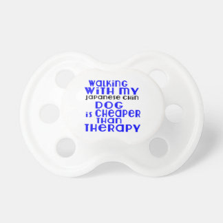 Walking With My Japanese Chin Dog  Designs Baby Pacifier