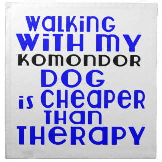 Walking With My Komondor Dog  Designs Napkin