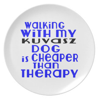 Walking With My Kuvasz Dog  Designs Plate