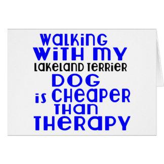 Walking With My Lakeland Terrier Dog  Designs Card
