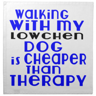 Walking With My Lowchen Dog  Designs Napkin