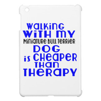 Walking With My Miniature Bull Terrier Dog Designs Cover For The iPad Mini