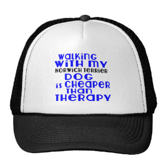 Walking With My Norwich Terrier Dog Designs Cap