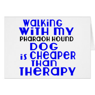 Walking With My Pharaoh Hound Dog Designs Card