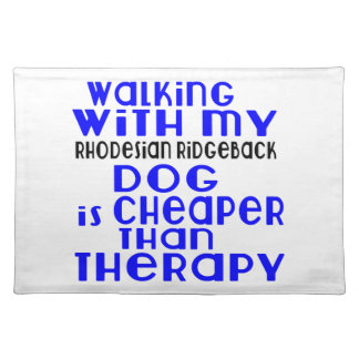 Walking With My Rhodesian Ridgeback Dog Designs Place Mat